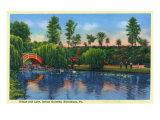 Harrisburg, Pennsylvania, Italian Gardens View of the Bridge and Lake Art by  Lantern Press