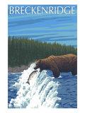 Breckenridge, Colorado, Bear Fishing Prints by  Lantern Press