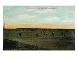 Texas, View of the Butler Ranch near Lubbock Prints by  Lantern Press