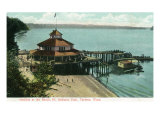 Tacoma, Washington, View of Point Defiance Park Pavilion at the Beach Posters