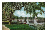 Denver, Colorado, View of Washington Park and Lake Posters by  Lantern Press