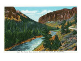 Southern Colorado, View of Upper Rio Grande River between Del Norte and Creede Posters by  Lantern Press