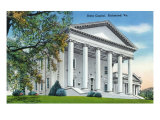 Richmond, Virginia, Exterior View of the State Capitol Building Prints by  Lantern Press