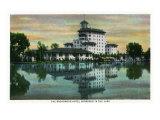 Colorado Springs, Colorado, Broadmoor Hotel View Reflected in Lake Posters by  Lantern Press