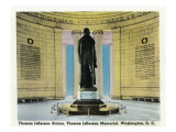 Washington, DC, Interior View of the Thomas Jefferson Memorial, Jefferson Statue Scene Posters