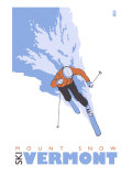 Mount Snow, Vermont, Stylized Skier Posters by  Lantern Press