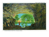 Rock State Park, Illinois, View of the Beautiful Ohio River from a Cave Prints by  Lantern Press