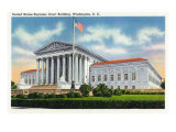 Washington, DC, Exterior View of the US Supreme Court Building Posters by  Lantern Press