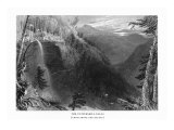 Catskill Mountains, New York, View of Kaaterskill Falls from above the Ravine Art