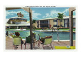 Las Vegas, Nevada, Exterior View of Wilbur Clark's Desert Inn and Swimming Pool Prints by  Lantern Press