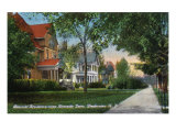 Binghamton, New York, View of Beautiful Homes on Riverside Drive Posters