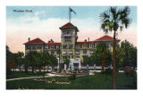 Jacksonville, Florida, Exterior View of the Windsor Hotel Prints
