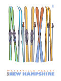 Skis in the Snow, Waterville Valley, New Hampshire Prints by  Lantern Press