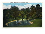 Davenport, Iowa, View of a Lagoon at Vanderveer Park Prints by  Lantern Press
