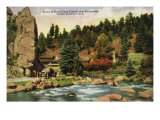 Colorado, Scenic Mountain View in Bear Creek Canyon near Evergreen Posters