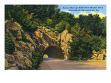 Shenandoah National Park, Virginia, Skyline Drive View of Tunnel through Solid Rock Prints