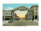 Rock Springs, Wyoming, View of the Rock Springs Welcome Arch Poster by  Lantern Press