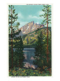 Grand Teton National Park, Wyoming, View of the Grand Teton from Jenny Lake Prints by  Lantern Press