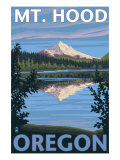 Mount Hood, Oregon, View of the Mountain from Lost Lake Poster by  Lantern Press