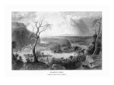 Harper's Ferry, West Virginia, View of the Town from the Blue Ridge Poster by  Lantern Press