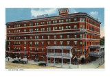 Binghamton, New York, Exterior View of the Arlington Hotel Poster by  Lantern Press