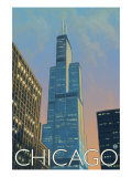 Chicago, Illinois, View of the Sears Tower Art by  Lantern Press