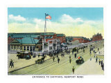 Newport News, Virginia, General View of the Shipyard Entrance Art by  Lantern Press