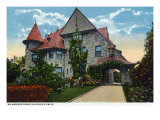 Binghamton, New York, Exterior View of the Kilmer Residence on Riverside Drive Print by  Lantern Press