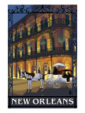 New Orleans, Louisiana, French Quarter Scene Posters by  Lantern Press