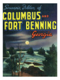 Georgia, Large Letters, Columbus and Fort Benning Posters by  Lantern Press