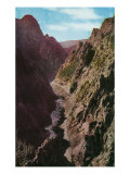 Colorado, Aerial View of the Depths of Gore Canyon Poster by  Lantern Press