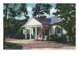 Little White House, Warm Springs, GA, Art Print