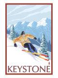Keystone, Colorado, Downhill Skier Print by  Lantern Press