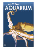 Visit the Aquarium, Octopus Scene Print by  Lantern Press