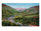 Glenwood Springs, Colorado, Panoramic View of the Town Prints by  Lantern Press