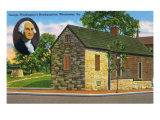 Winchester, Virginia, Exterior View of George Washington's Headquarters Building Posters