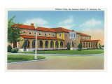 Fort Benning, Georgia, Exterior View of the Officers' Club, Infantry School Prints by  Lantern Press