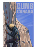 Canada, Rock Climber Prints by  Lantern Press