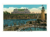 Hershey, Pennsylvania, View of the Hershey Park Swimming Pool Print by  Lantern Press