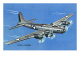View of the Boeing B-17 Flying Fortress Plane Prints