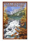 Rocky Mountain National Park, Colorado, Lake Scene Art by  Lantern Press