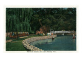 Hershey, Pennsylvania, Hershey Park View of the Miniature Railway and Lake Posters by  Lantern Press