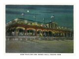 Norfolk, Virginia, Ocean View at Night, Exterior View of the New Pavililon and Dance Hall Posters
