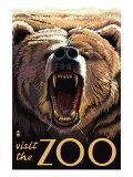 Visit the Zoo, Bear Roaring Prints by  Lantern Press