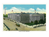 Washington, DC, Exterior View of the US Treasury Building Poster by  Lantern Press