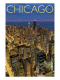 Chicago, Illinois, View of City from Sears Tower Poster