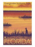 Everglades National Park, Florida, Sunset Scene Prints by  Lantern Press