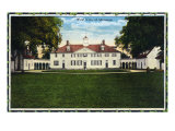 Mount Vernon, Virginia, Western Exterior View of the Mansion Prints