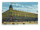Binghamton, New York, Exterior View of the Fowler, Dick, and Walker Department Store Prints by  Lantern Press