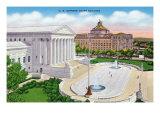 Washington DC, Exterior View of the US Supreme Court Building Prints